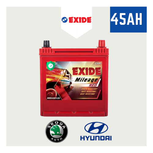 45AH Exide Car Battery Exide Mileage MRED45D21LBH [55 Months Warranty]